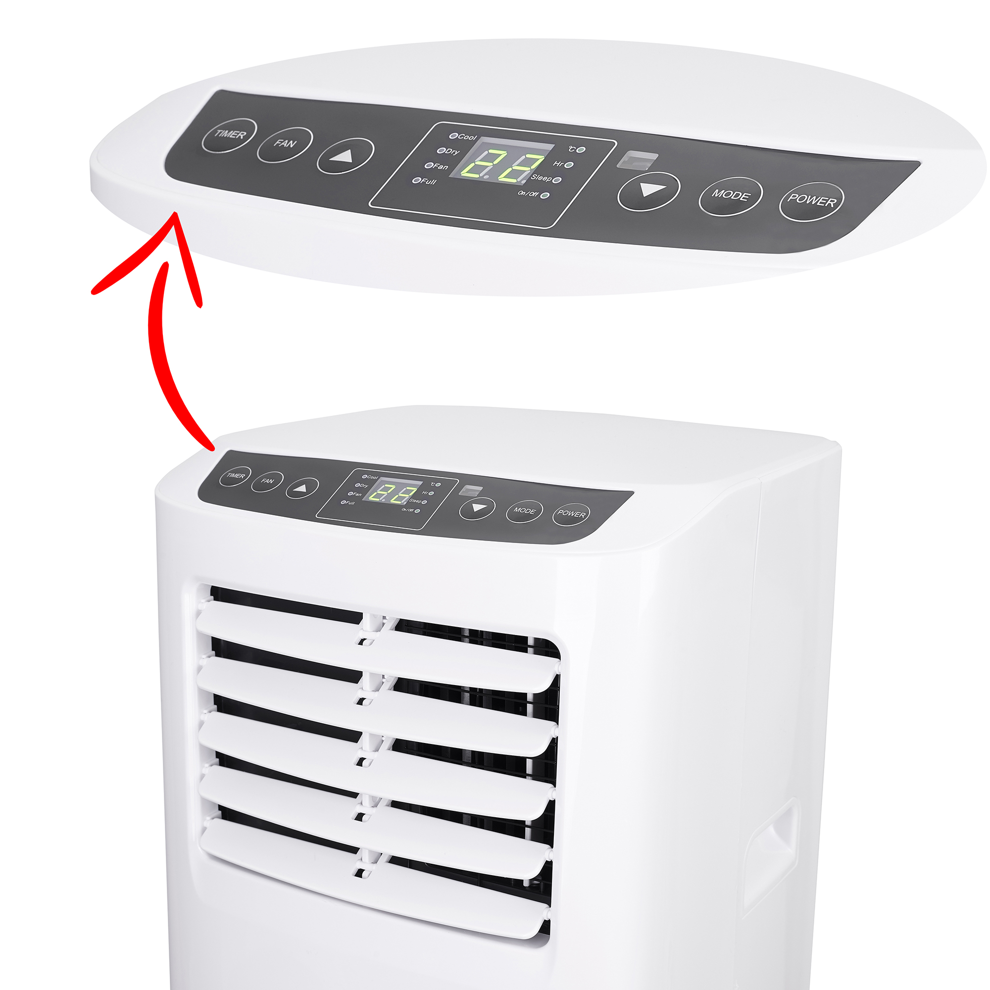 The AD 7916 air conditioner has ventilation, cooling and dehumidification functions, making it a very useful device all year round. To make it comfortable to use, the air conditioner is equipped with a remote control and a timer to turn it on or off autom