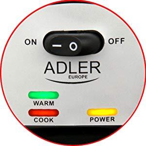 Adler AD6406 Arrocera cocedero de arroz, 1,5 litros
