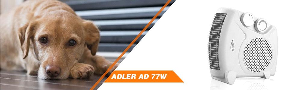 Adler AD77W  Calefactor ventilador de aire caliente, termoventilador