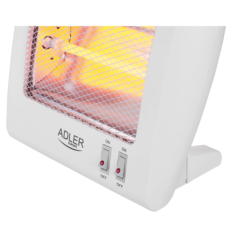 Mesko MS7710 Adler AD7709 Estufa eléctrica de cuarzo portátil, radiador halógenostufa eléctrica de cuarzo portátil, radiador halogeno