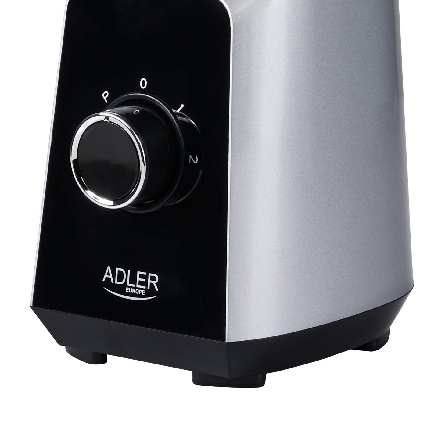 Adler AD-4076 Batidora Americana de Vaso cristal 1,5 litros, 2 velocidades, cuchillas acero inoxidable, 1000W