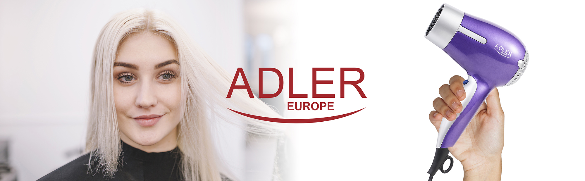 Adler AD 2218 secador de pelo profesional Compacto, 2 ajustes de Velocidad, 3 Temperaturas, Botón Aire Frío, 1500W