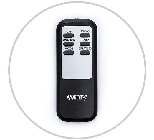 Camry CR 7316 - Ventilador de pie oscilante con nebulizador de agua