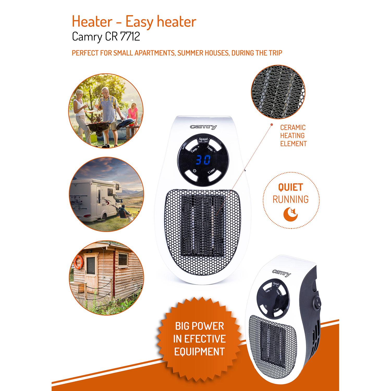 Camry CR7712 Mini Calefactor portátil cerámico sin cable