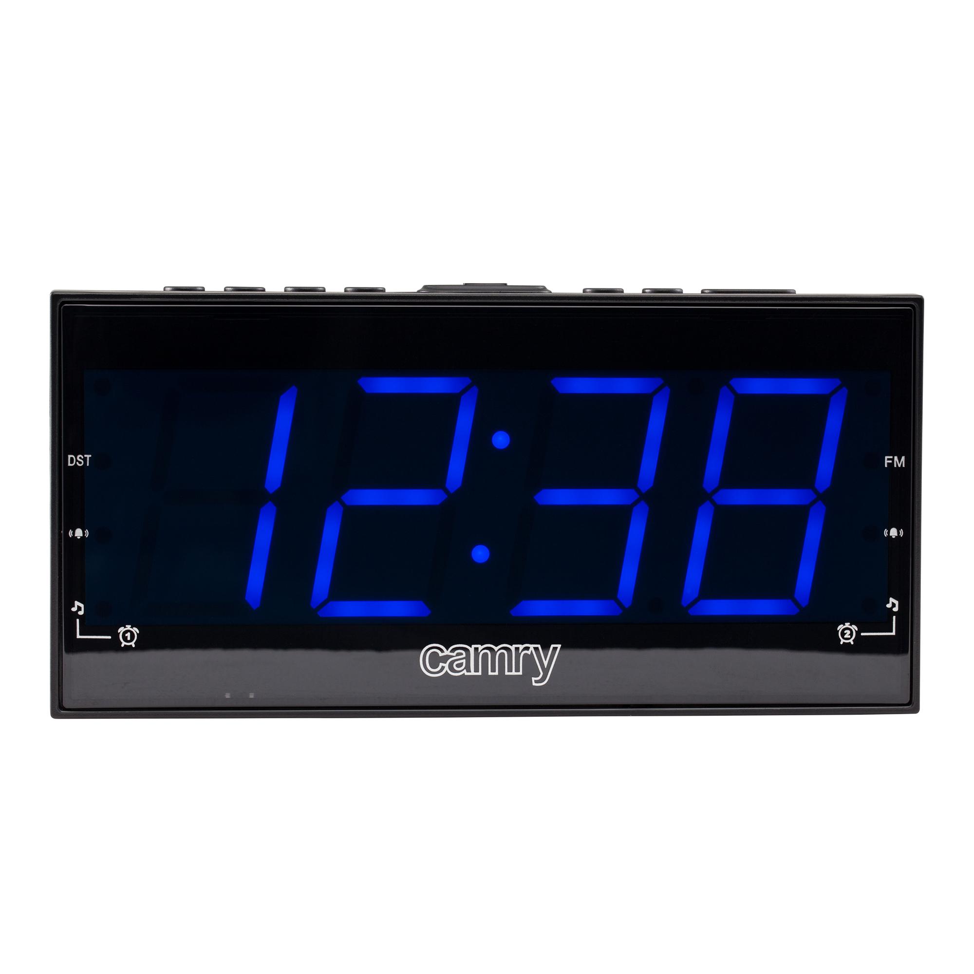 CAMRY CR1164 Radiodespertador Digital FM, Gran Pantalla LED, Dos Alarmas, 10 Pre sintonías, Función SNOOZE, SLEEP
