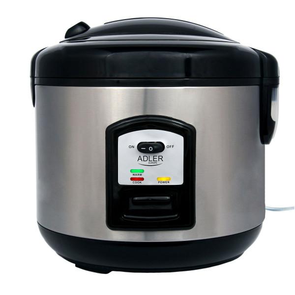 Adler AD6406 Arrocera cocedero de arroz, 1,5 litros, función mantenimineto de calor, apagado automatico, acero inoxidable