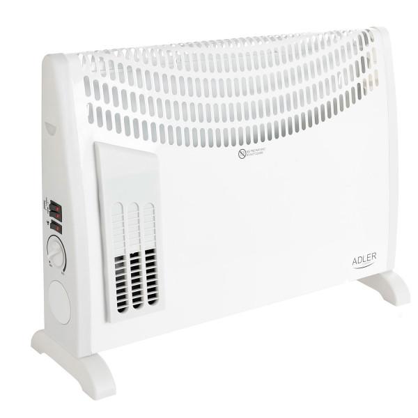 Adler AD7705 Convector aire caliente con termostato regulable para un bajo consumo, 3 niveles potencia, silencioso, (750W 1250W 200W)