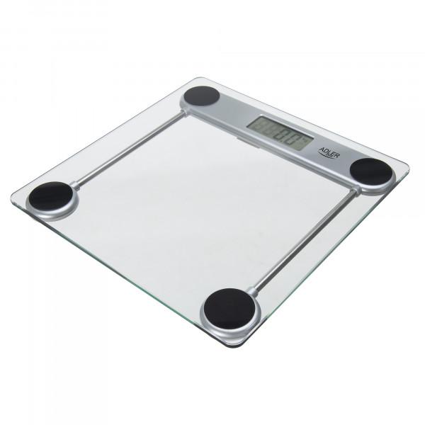 ADLER AD-8121 Báscula de Baño Digital, Profesional, 150 Kg, Vidrio Templado, Alta precisión, Apagado Automático