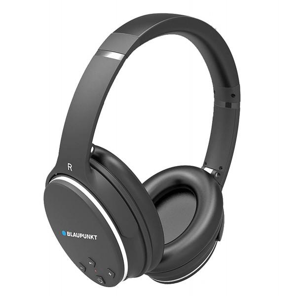 Blaupunkt BLP4400 - Auriculares Bluetooth Inalambricos de Diadema, Cancelación de Ruidos, 9 Horas de Autonomía, Negro