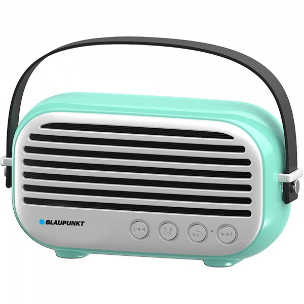Blaupunkt BLP3350 Altavoz Bluetooth, Vintage, Radio Fm, USB, MICRO SD, AUX, Portátil, Potencia Sonido 10W, Inalámbrico, Manos Libres, Verde