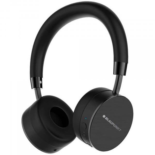 Blaupunkt BLP4000.133 Auriculares Bluetooth Inalámbricos de Diadema, Kit Manos Libres, 14 horas de Autonomía, Negro