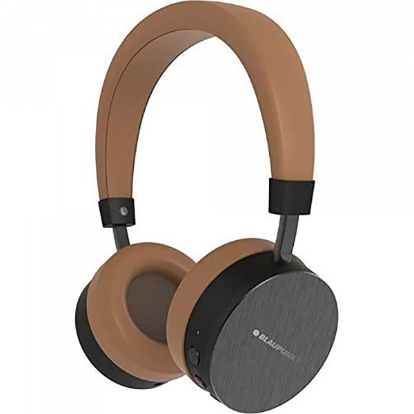 Blaupunkt BLP4000.157 Auriculares Bluetooth Inalámbricos de Diadema, Kit Manos Libres, 14 horas de Autonomía, Marrón