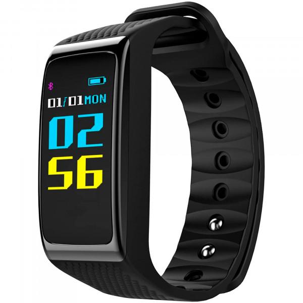 BLAUPUNKT BLP5200 Pulsera de Actividad, Smartwatch, Monitor de Actividad, Sueño, Pulsómetro, Podómetro, Contador de Calorías, IOS y Android, Negro