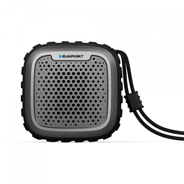 Blaupunkt BLP6110 Altavoz Bluetooth, Portátil, Potencia Total de Sonido 10W, Alcance 10m, Impermeable, Inalámbrico, Batería Recargable, Negr
