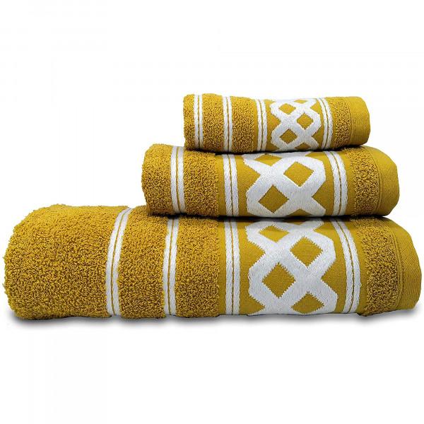 briebe Home Juego de Toallas Baño 100% algodón Rizo 450gr, Set 3 Piezas, Amazonica Basic