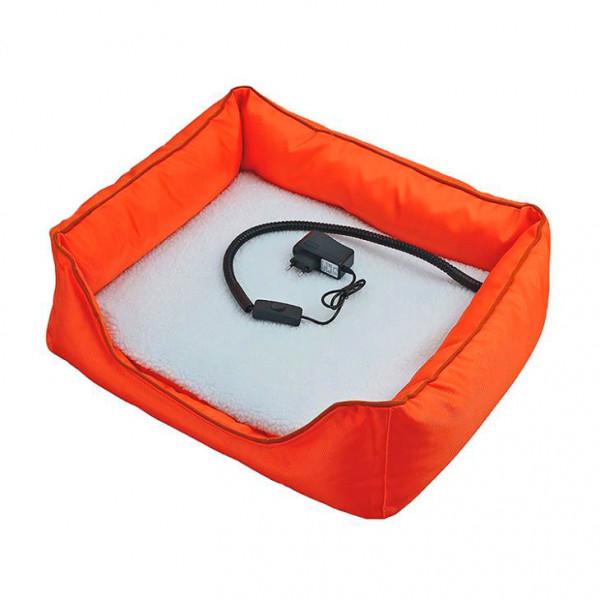 Briebe Pet Warner Cama para perros y gatos eléctrica calefactora cuadrada 50x55x16cm, calefación para mascotas, lana sintética suave, anti-mordida 15W