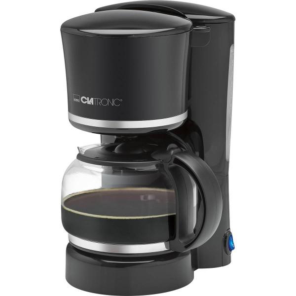 Clatronic KA 3555 - Cafetera de goteo, capacidad 8 a 10 tazas, 1,25 l, 870 W, color negra