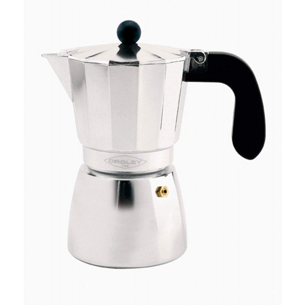 Oroley ALU Cafetera Italiana 9 Tazas aluminio para todo tipo de Cocinas menos inducción