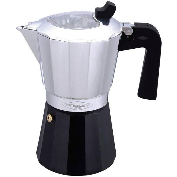 Oroley Cafetera Italiana Inducción 6 Tazas Base Acero Inoxidable para Todo tipo de Cocinas