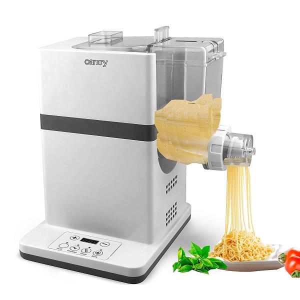 Carmry CR4806 Máquina hacer pasta fresca automática, Penne, Rigattoni, Spaghetti, Linguine, Lasaña, Fettuccini y Tagliatele, pala amasado, 150W