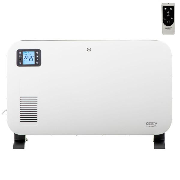 CAMRY CR7724 Convector Eléctrico, Radiador Pantalla LCD, Mando Distancia, Temporizador, 3 Niveles Temperatura, 1000/1300/2300W