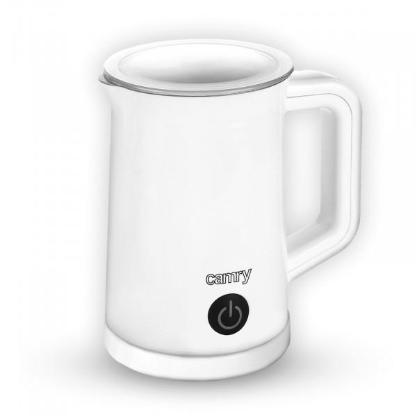 CAMRY CR-4464 Espumador de Leche Automático Batidor de leche Eléctrico 500 W Vaporizador y Calentador Leche 300 ml Hace Espuma en Caliente/Frío, Tapa Transparente