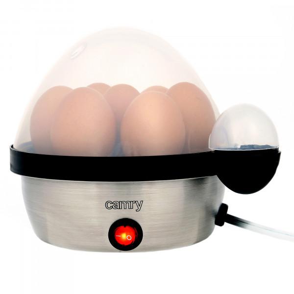 CAMRY CR-4482 Cuece Huevos Eléctrico para 7 Huevos, Acero Inoxidable, Ajuste de Cocción, Protección por Sobre Calentamiento, 450W, Libre de BPA
