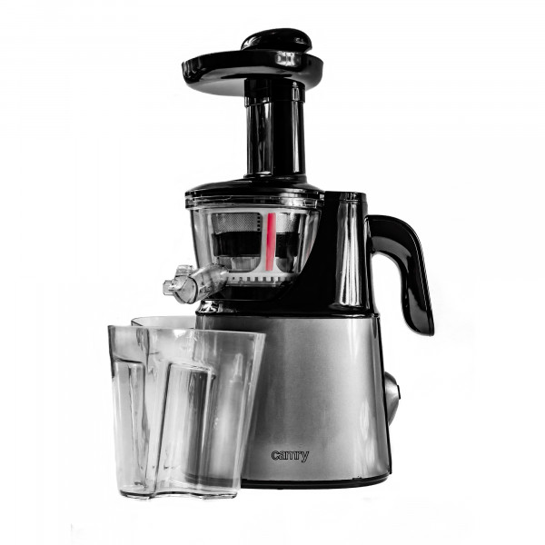 CAMRY CR4120 Licuadora prensado en frío para verduras y frutas, baja velocidad 70 RPM, Slow Juicer, 2 Recipiente de jugo y Pulpa, función inversa, 150W
