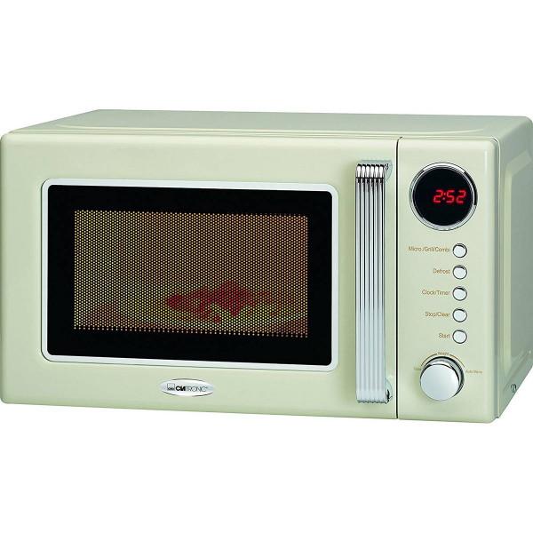 Clatronic Microondas con grill retro 20 litros MWG 790 color crema