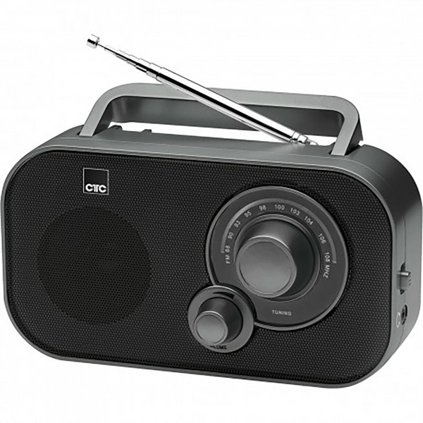 CTC TR 7009 Radio FM, Transistor Portátil, Toma de Auriculares, Negro