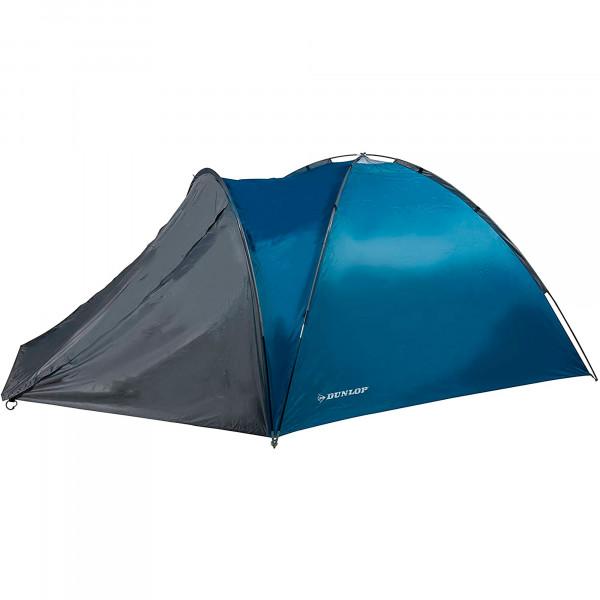Dunlop Tienda de campaña Impermeable, 2 Personas, Ligera, Fácil Instalación, Acampada, Azul/Gris