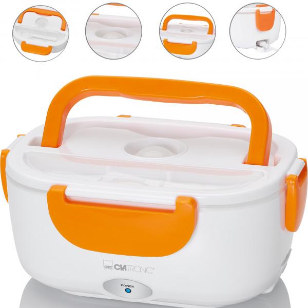 Fiambrera eléctrrica para calentar la comida hasta 75ºC, 1,7 litros capacidad, 2 contenedores individuales, aptos para microondas y lavavajillas