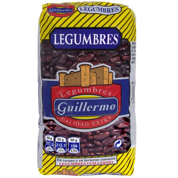 Guillermo Alubia Morada Larga Legumbres Calidad Extra Judías 1Kg