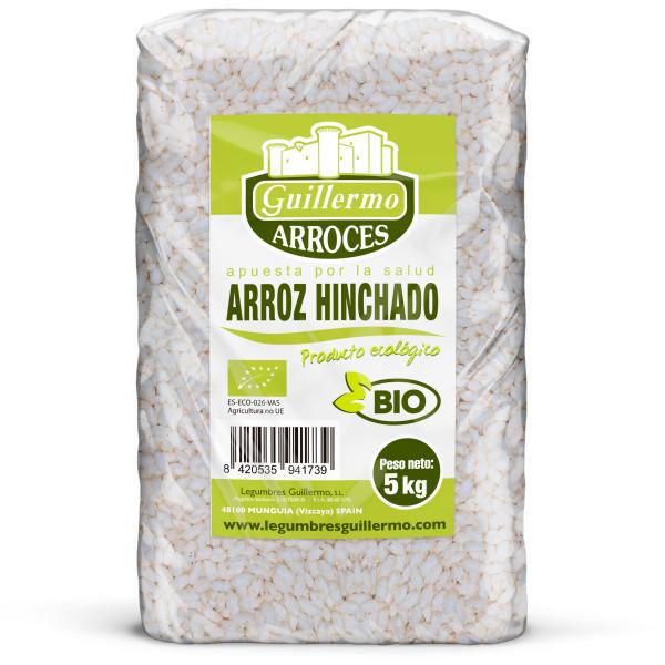 Guillermo Horeca Arroz Hinchado Ecológico BIO Granel 5kg