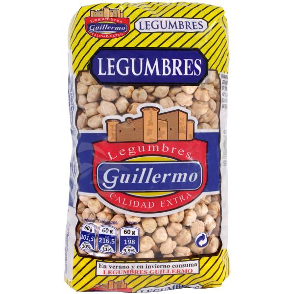Guillermo Garbanzos Blanco Lechoso Legumbres Calidad Extra 1Kg