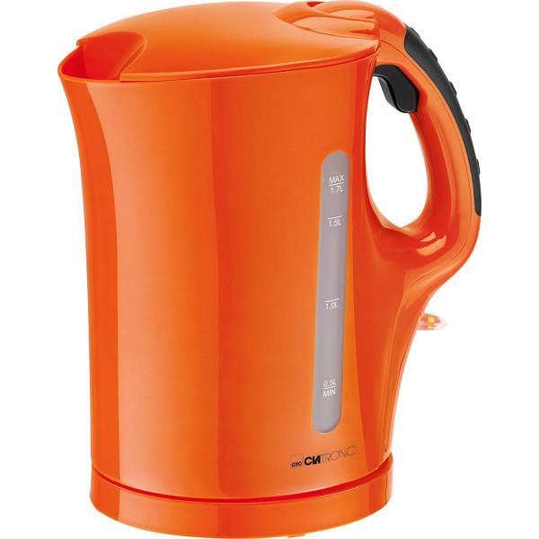 Clatronic WK 3445 - Hervidor de agua eléctrico, capacidad de 1,7 l, 2200 W, color naranja