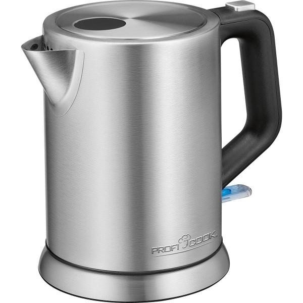 Proficook WKS 1106 - Tetera Hervidor agua eléctrico 1litro acero inoxidable
