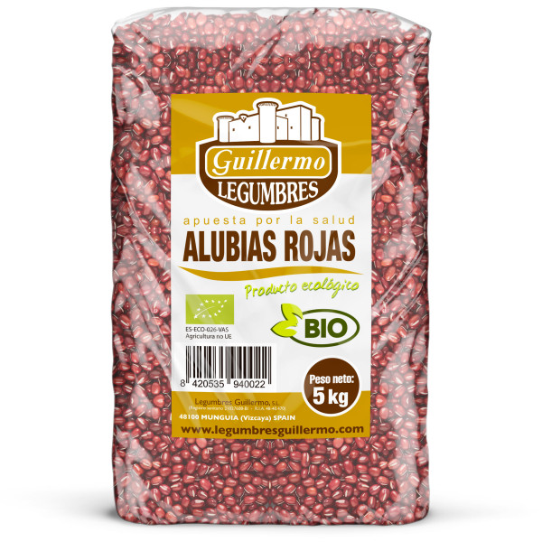 Guillermo Horeca Alubia Roja Judía Ecológica BIO Granel Calidad Extra 5kg