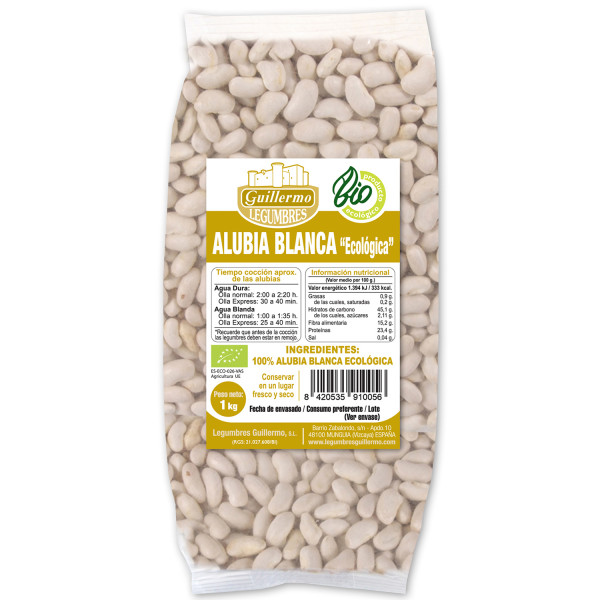 Guillermo Alubias Blancas Judías Ecológica BIO 100% Natural 1KG