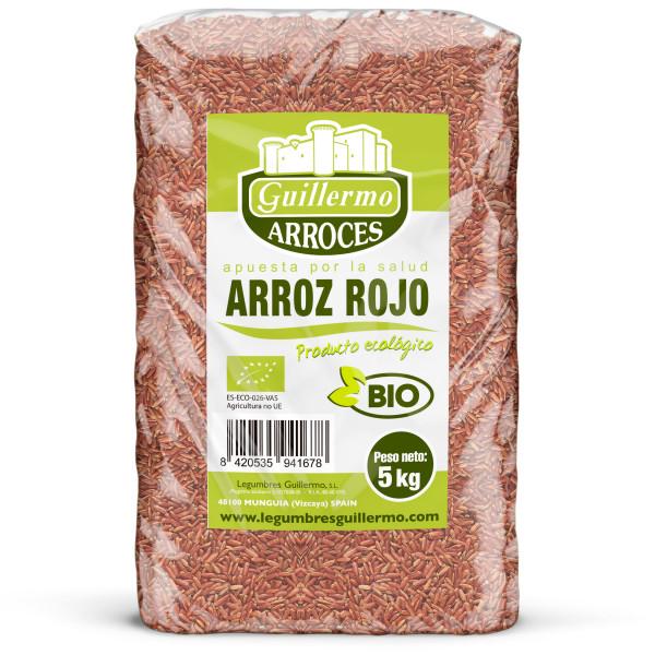 Guillermo Horeca Arroz Rojo Ecológico BIO Granel 5kg