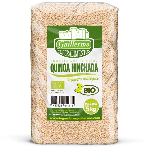 Guillermo Horeca Quinoa Hinchada Ecológica BIO Granel 100% Natural 5kg