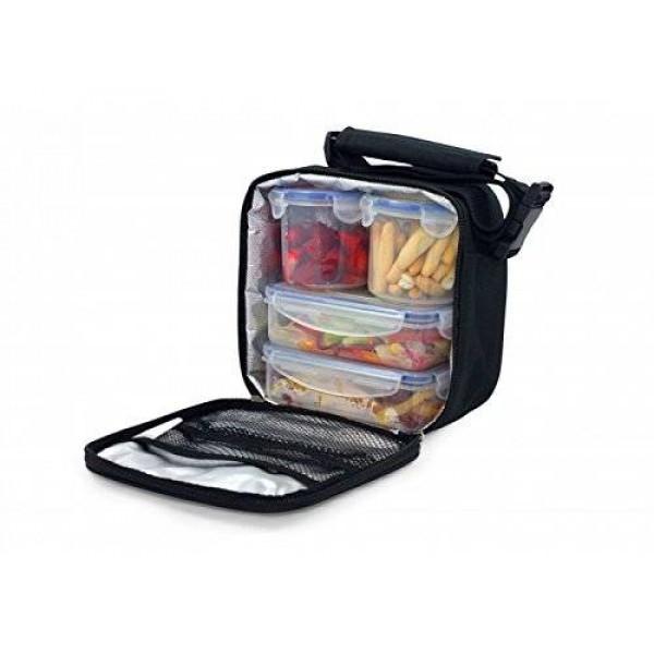 Magefesa Picnic- Bolsa térmica porta alimentos para llevar comida, 4 contenedores herméticos