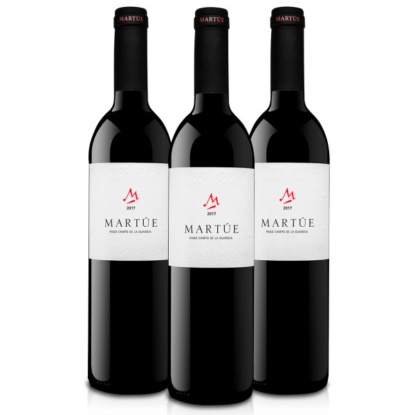 Martúe Vino Tinto Crianza D.O. Pago Campo de la Guardia - Lote Pack de 3 Botellas x 750 ml