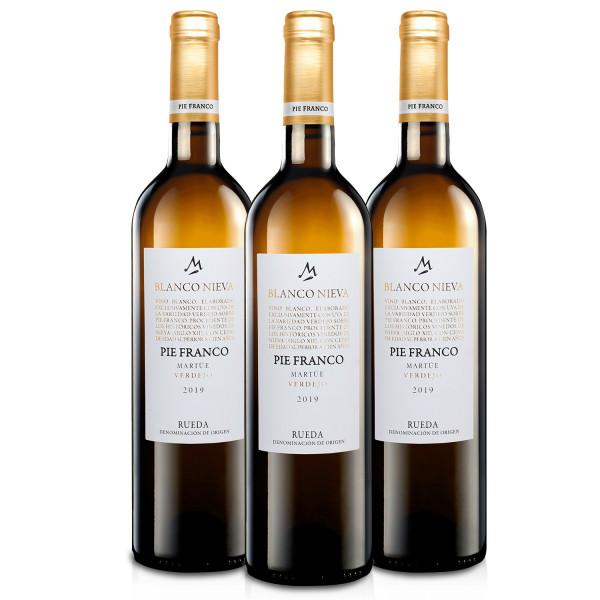 Martúe Blanco Nieva Pie Franco Vino Blanco Verdejo D.O. Rueda - 3 Botellas x 750 ml