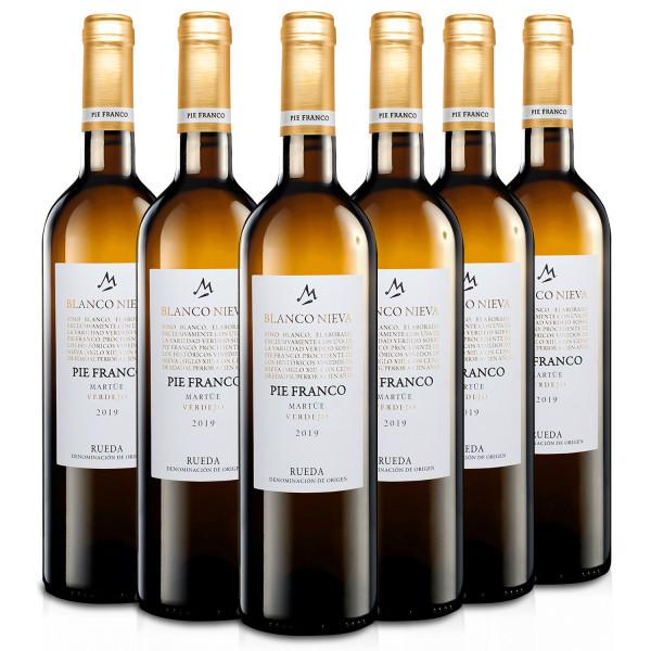 Martúe Blanco Nieva Pie Franco Vino Blanco Verdejo D.O. Rueda - 6 Botellas x 750 ml