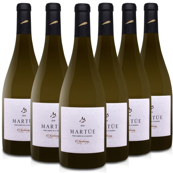 Martúe Chardonnay Vino Blanco D.O. Pago Campo de la Guardia - Lote Pack de 6 Botellas x 750 ml