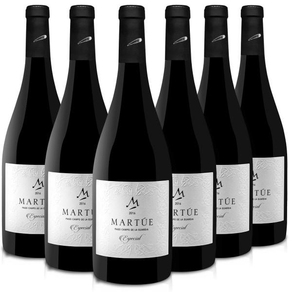 Martúe Especial Vino Tinto Reserva D.O. Pago Campo de la Guardia - 6 Botellas x 750 ml