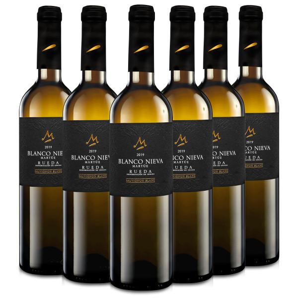 Martúe Blanco Nieva Sauvignon Blanc Vino Blanco D.O. Rueda - 6 Botellas x 750 ml