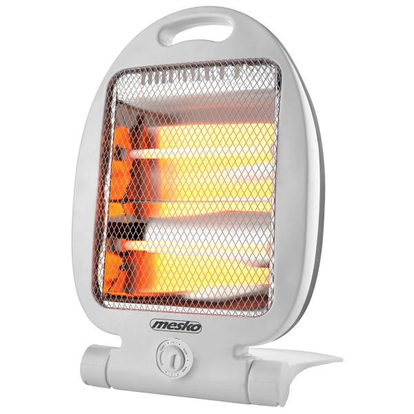 Mesko MS7710 Estufa eléctrica de cuarzo portátil, radiador halogeno, 2 niveles temperatura, sistema seguridad, 400/800W