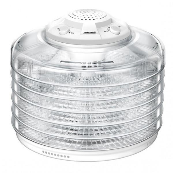 MPM MSG-10 Deshidratador alimentos, frutas y verduras, control de temperatura (40°C-70°C), 5 bandejas libres de BPA de 32cm, 350W
